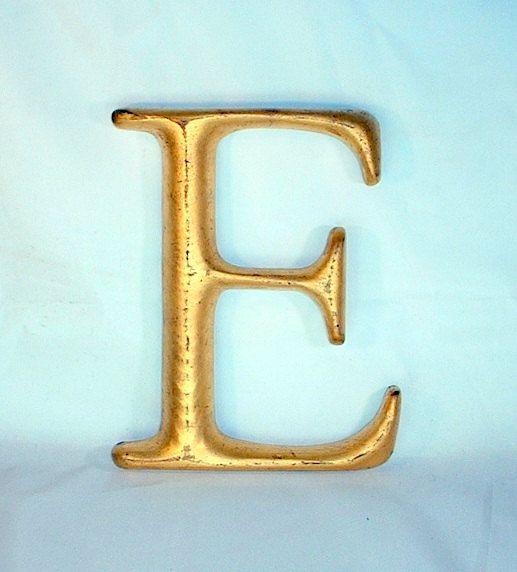 Vintage Carved Wood Letter E Wood Letters Lettering