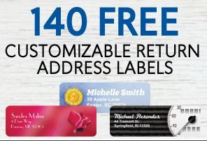 deals on return address labels