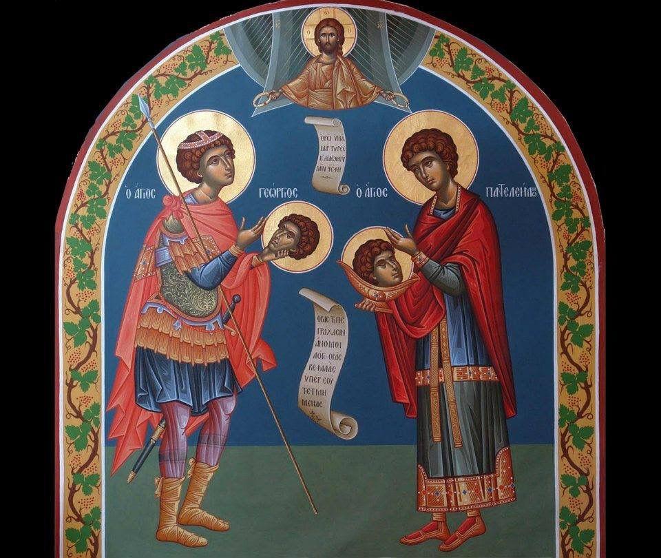 Saint George and Panteleimon