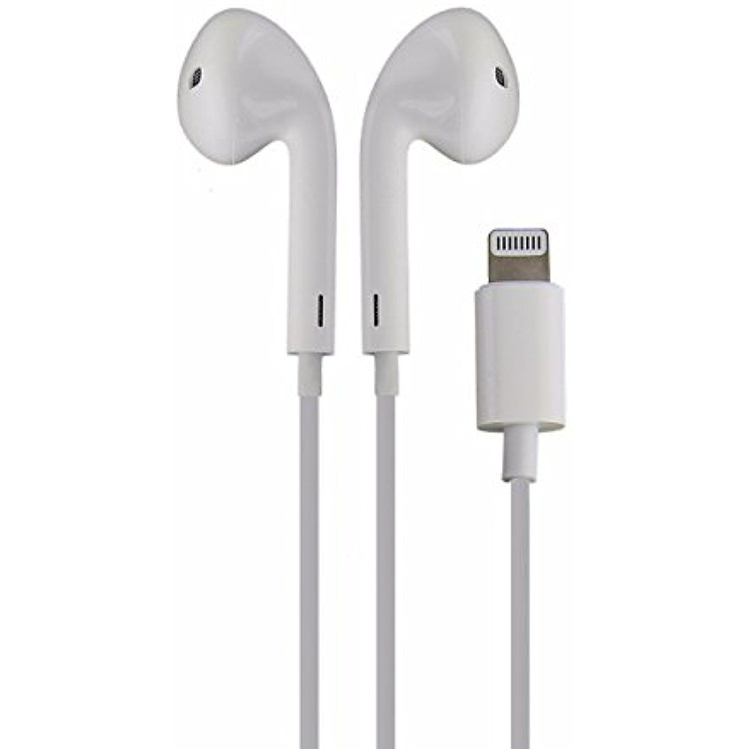 oem apple iphone 7 earpod wired headphones with lightning connector white mmtn2am a certified refurbished want additional info click on the image  [ 1500 x 1500 Pixel ]