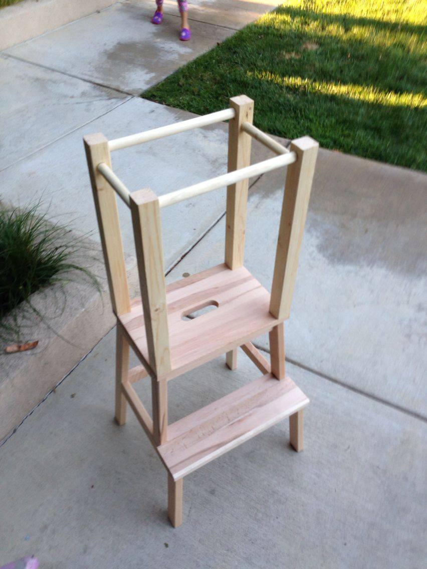 ikea stool to learning tower mod finished projects pinterest crafty and craft. Black Bedroom Furniture Sets. Home Design Ideas