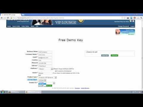 SecPoint VIP Lounge How To Create Demo