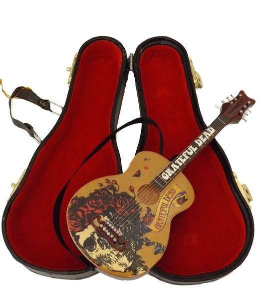 Official Grateful Dead Mini Guitar  Case Christmas Ornament