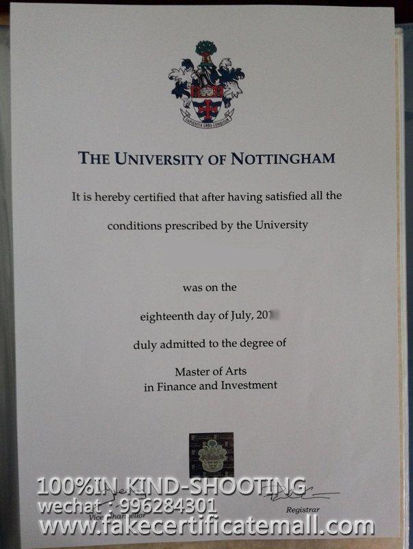 Buy a degree Nottingham University degree certificate-Fake Diplomas