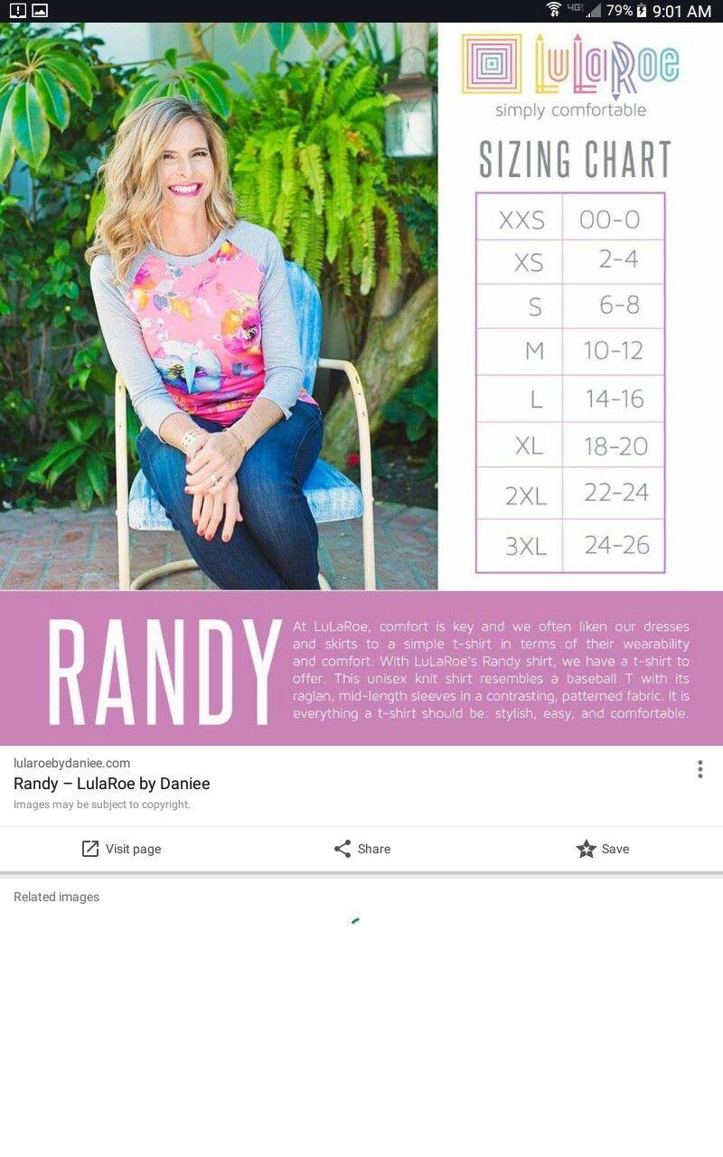 Lularoe Randy Size Chart : lularoe, randy, chart, Lularoe
