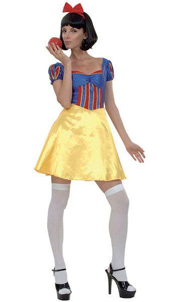 Ladies Snow White Princess Fairy Tale Costume Halloween Hens Party Fancy Dress