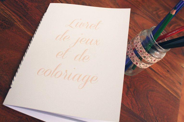 Populaire Fabriquer des livrets de coloriages pour un mariage | Livret  CZ15