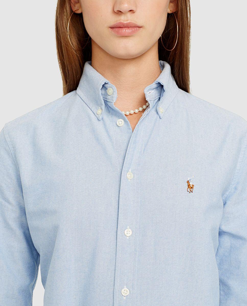 Camisa de mujer Polo Ralph Lauren. Camisa de mujer Polo Ralph Lauren  Camisas Azules Mujer 9d6694c7d5eb1
