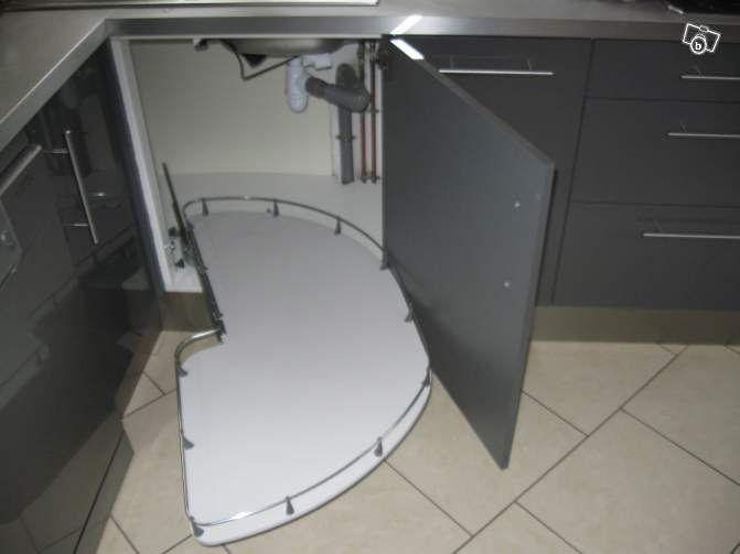 Cuisine ikea plateaux pour meuble d 39 angle 120cm - Plateau tournant pour placard cuisine ...