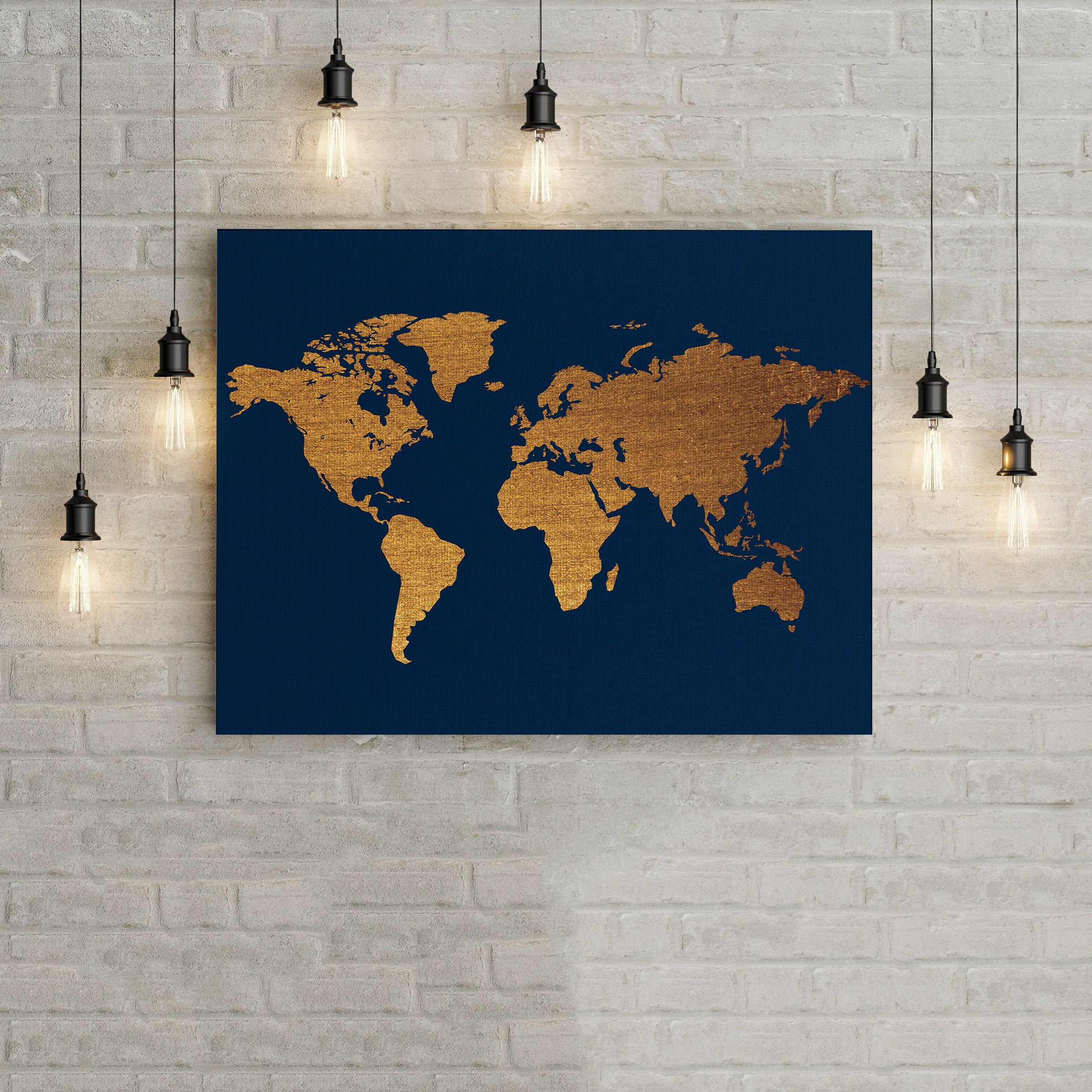 Printable gold world map gold home decor wall art office decor printable gold world map gold home decor wall art office decor office wall art modern digital download contemporary wall art printable gumiabroncs Gallery