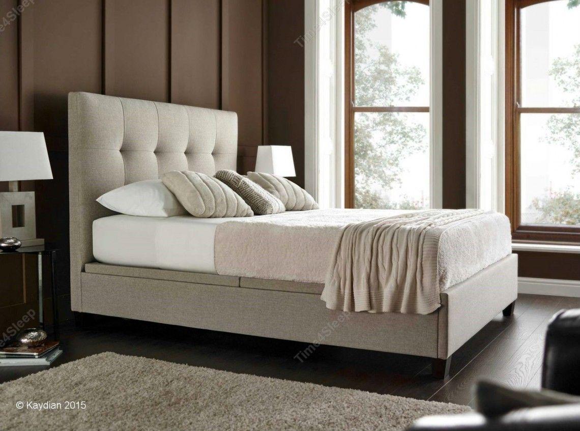 Kaydian Walkworth Ottoman Storage Bed - Oatmeal Fabric | My Home ...