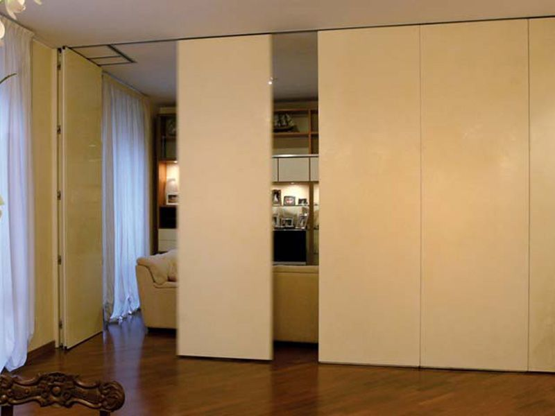 Operable wall residential movable partitions by anaunia for Movable walls room partitions