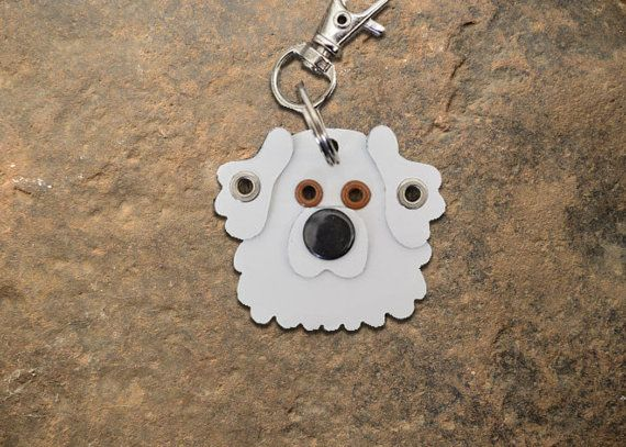 Great Pyrenees Pet Tag Dog Tag ID Key chain Metal Custom Breed Handmade Keychain