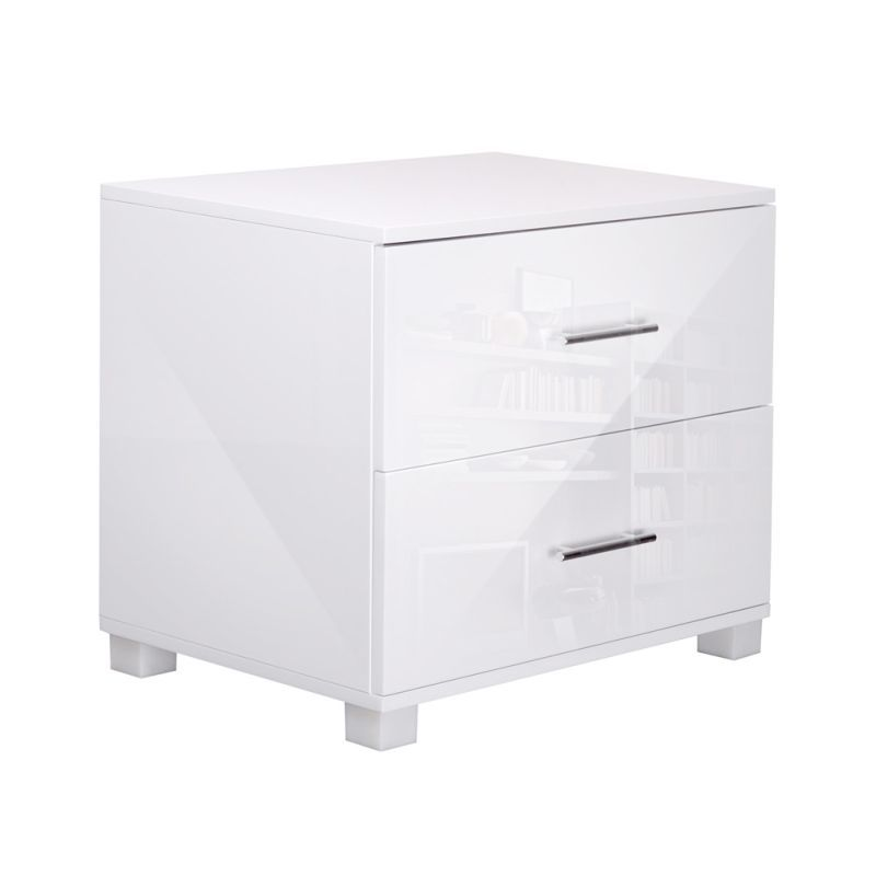 High Gloss Bedside Table Drawers Cabinet Lamp Unit Buy Tables White Bedside Table Bedside Table Drawers Furniture Stores Online