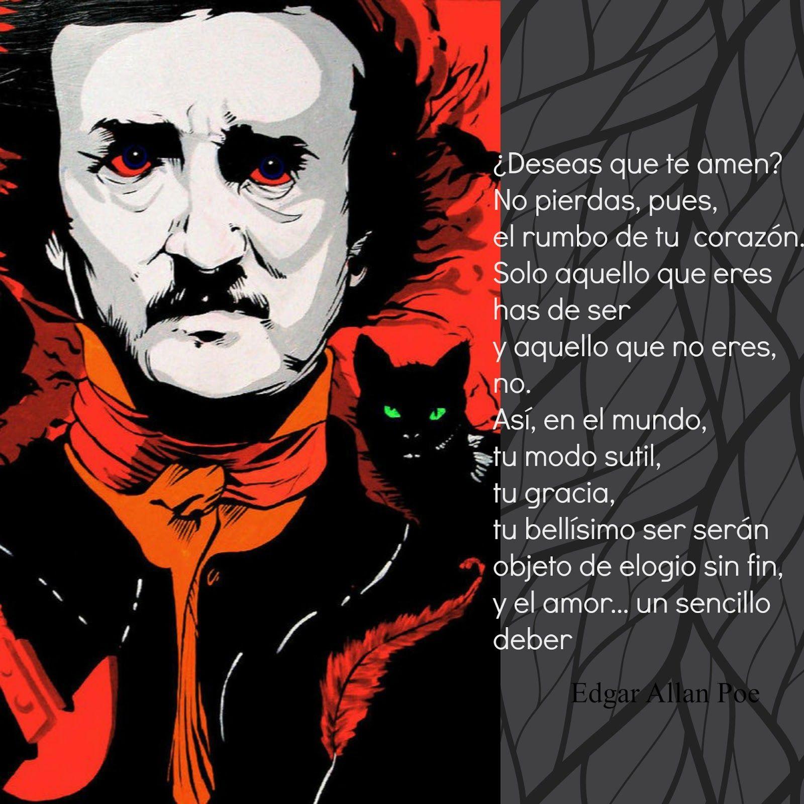 Edgar Allan Poe, poema elogio a los gatos | biblioteca libros de ...