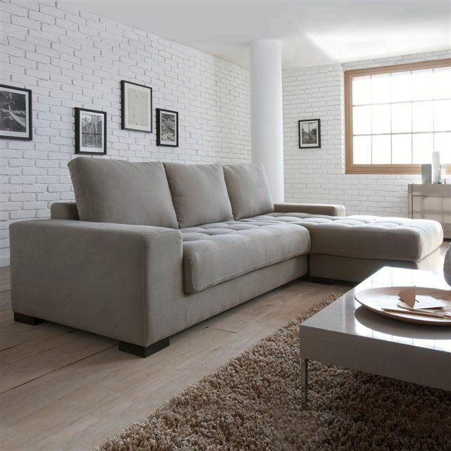 canap d angle fixe ou convertible coton demi natt. Black Bedroom Furniture Sets. Home Design Ideas