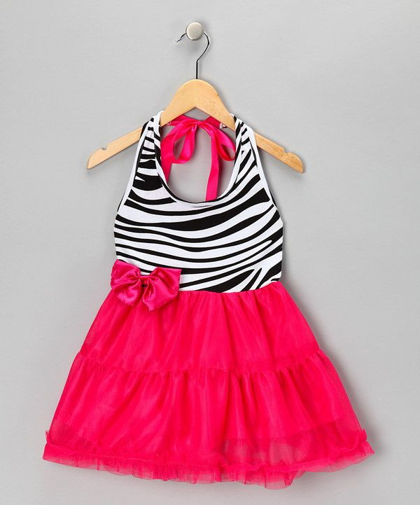 Take a look at this Pink Zebra Halter Top Dress - Toddler & Girls on zulily today!