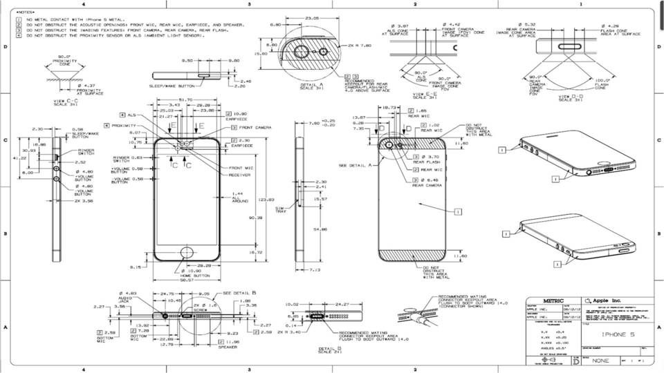Iphone 5 drawing dimensions - Other - 3D CAD model ...