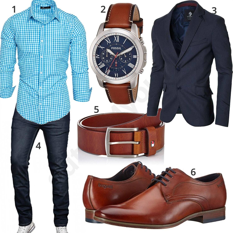 herren style mit hemd sakko und jeans l ssig jeans. Black Bedroom Furniture Sets. Home Design Ideas