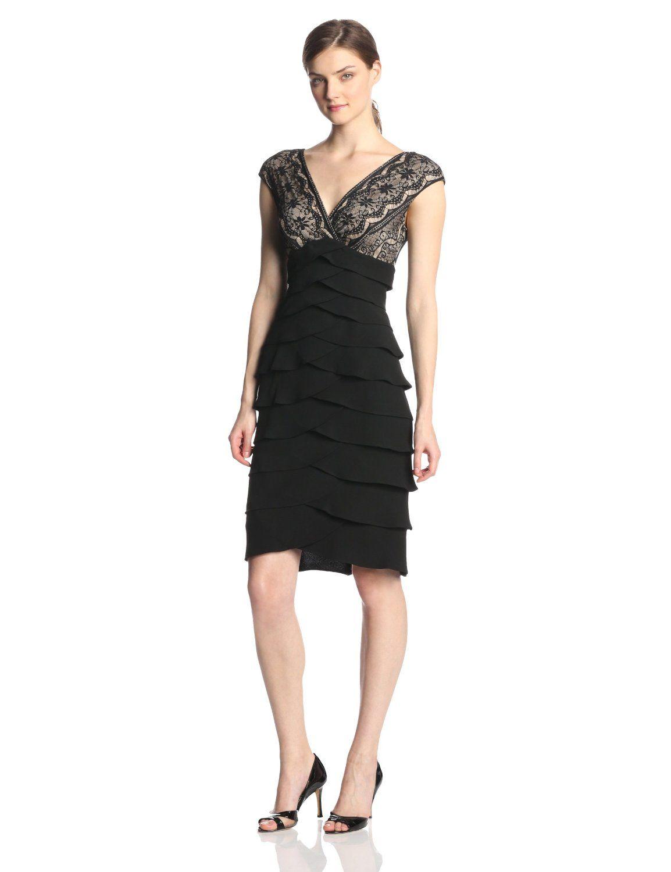04ad3cc2a25 Cap Sleeve Surplus Lace Bodice Artichoke Dress by Jessica Howard ...