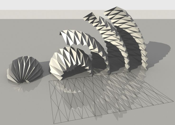 Parametric origami by mlab casalevalenticalvano kubus for Architecture origami