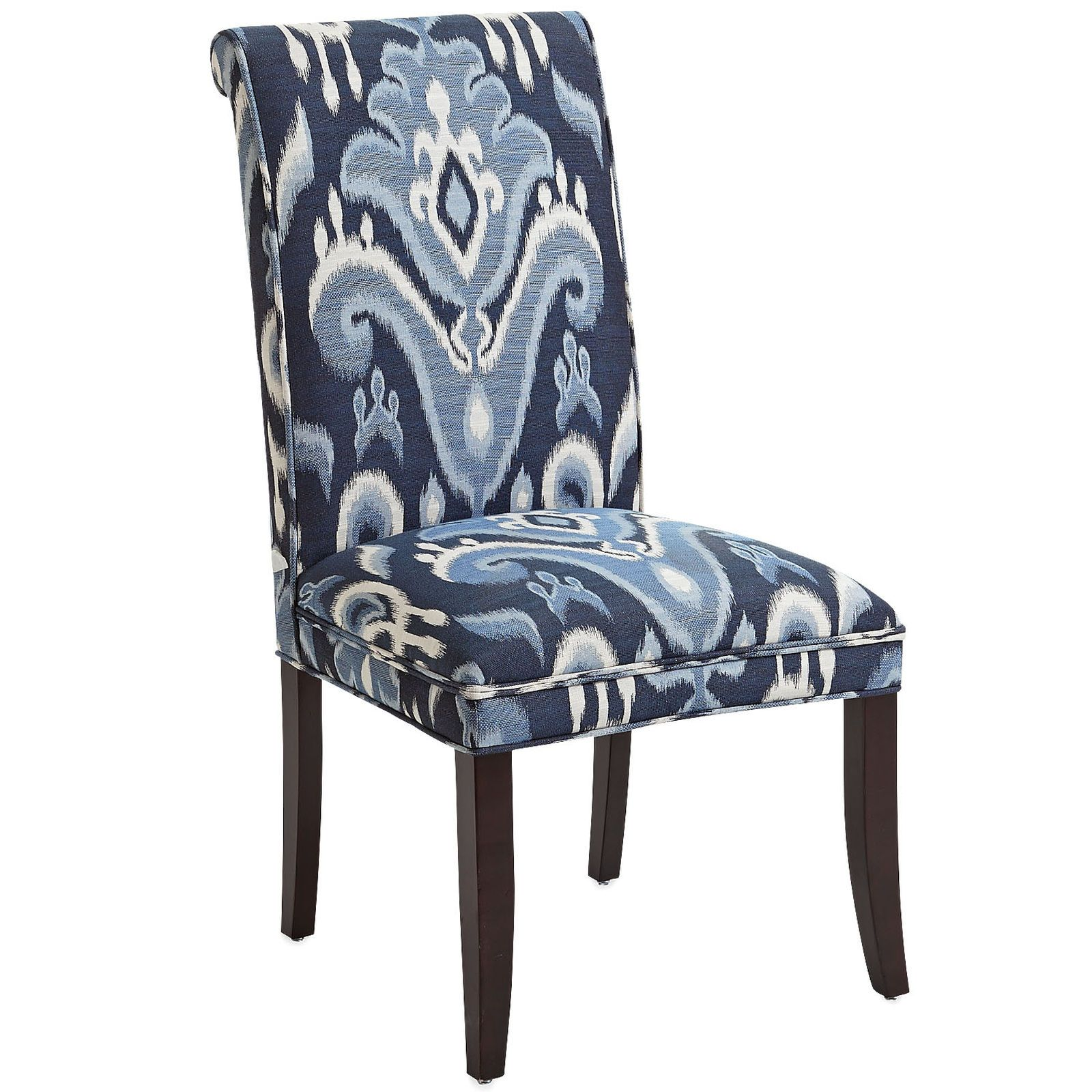 Angela Indigo Ikat Dining Chair With Espresso Wood With Images
