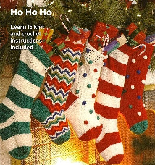 Y948 Knit Pattern Only Christmas Stockings Knit By Beadedbundles