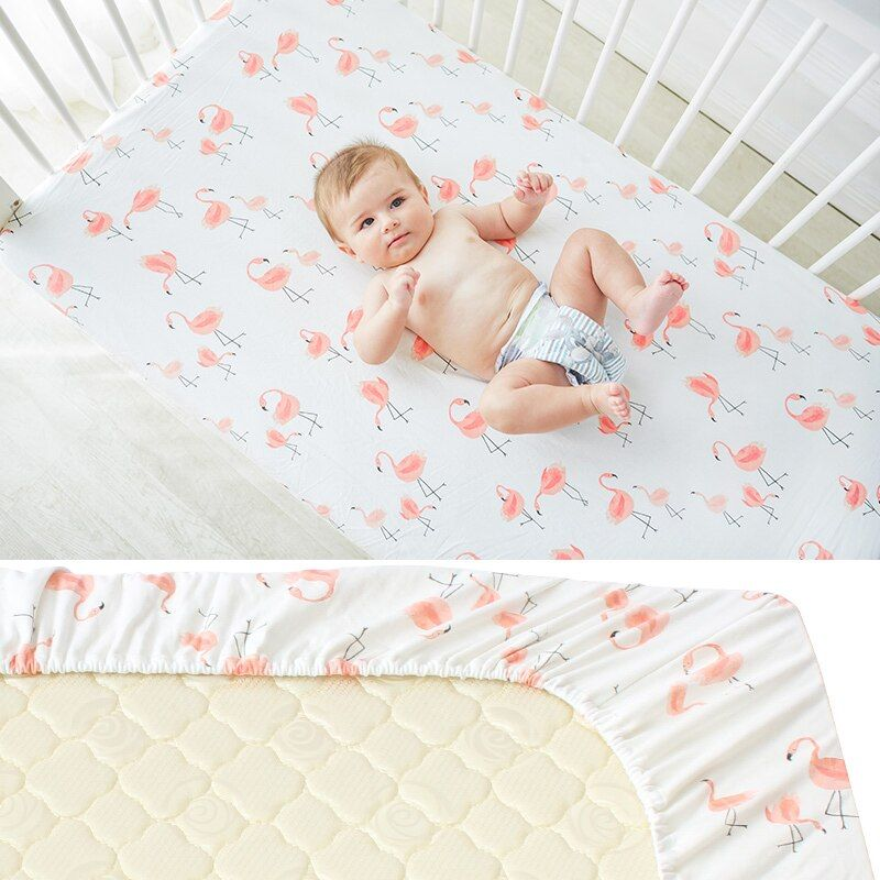 Best Pure Cotton Baby Crib Fitted Sheet Infant Cot Bed Sheets 400 x 300