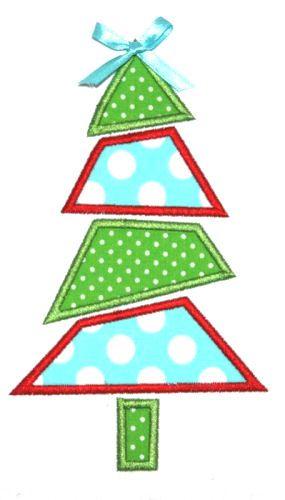 Mod Christmas Tree Applique Design Christmas Applique Patterns Free Applique Patterns Applique Patterns