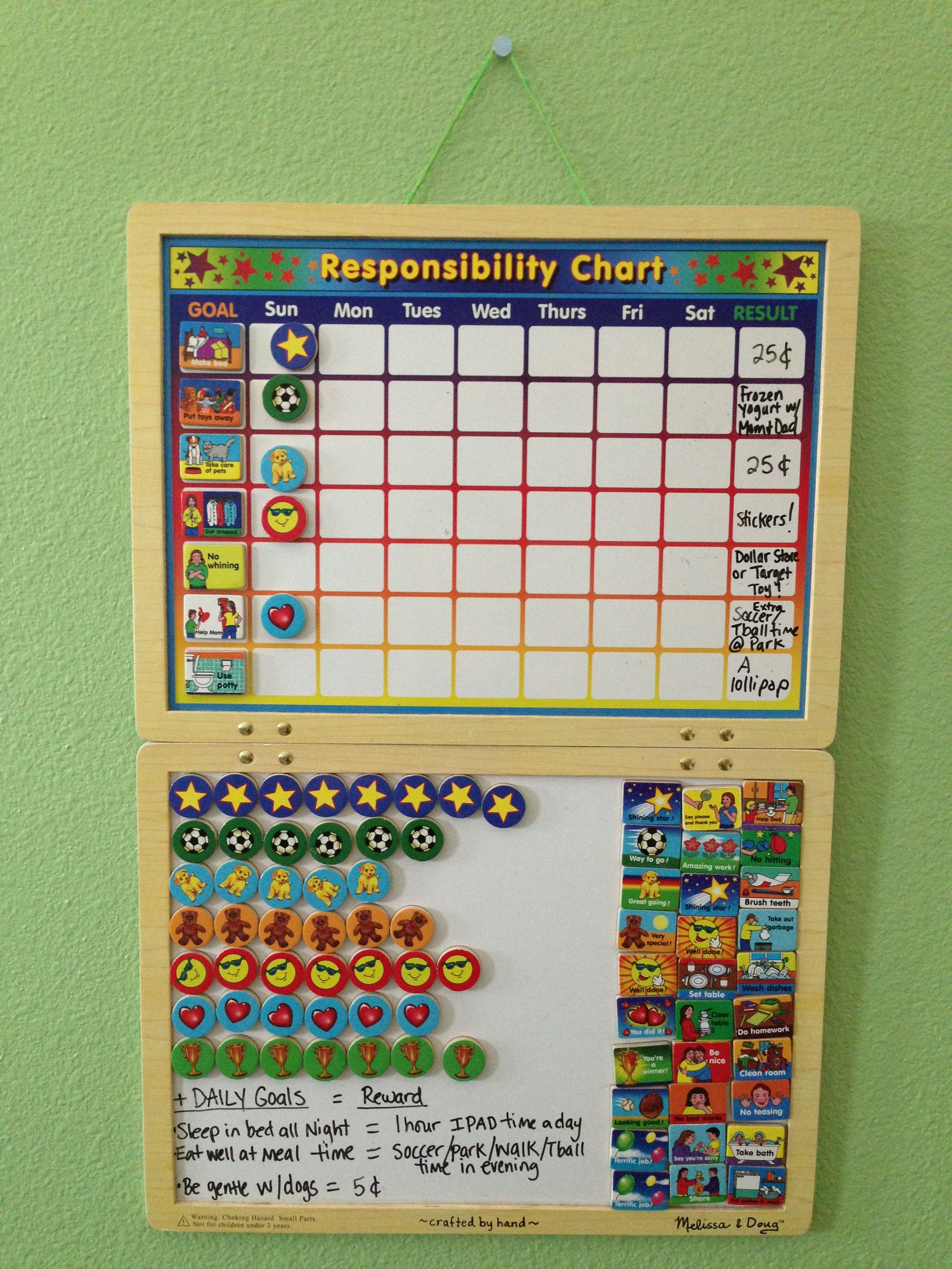 Chore Chart For 4 Year Olds With Images