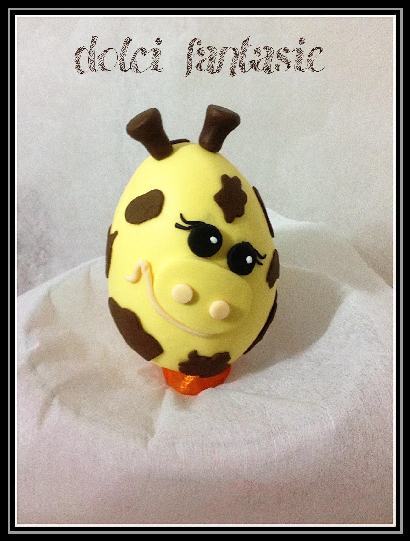 Uova di cioccolato giraffa