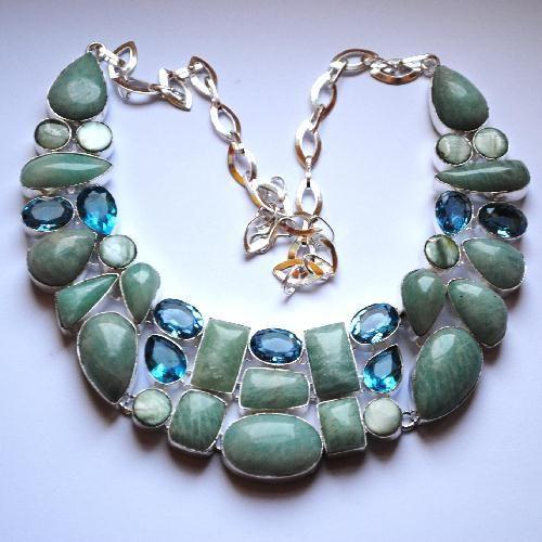 Amz 025a collier parure amazonite topaze bleue achat vente bijou argent 925 5edd6f3c5bab