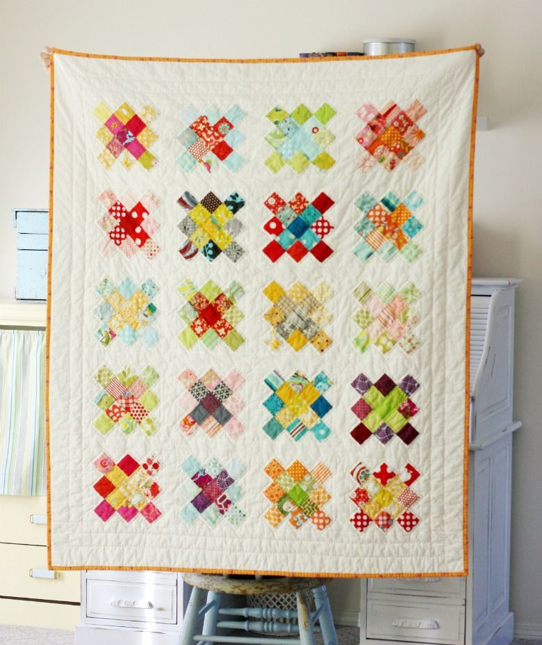 Blue Elephant Stitches Granny Square Quilt Block Tutorial Diy