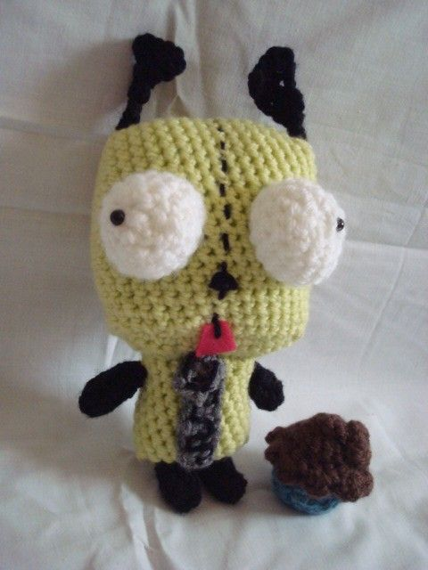 Gir And Cupcake Crochet Pattern From Invader Zim I Love You