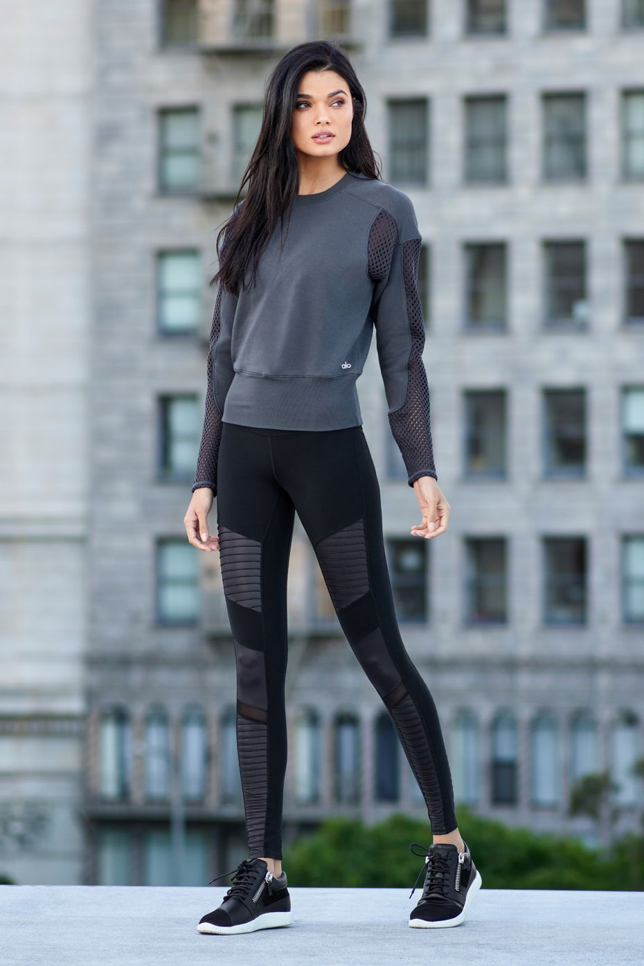 29ccf9a50e ALO YOGA || Formation Long Sleeve Top and High-Waist Moto Legging #aloyoga  #beagoddess
