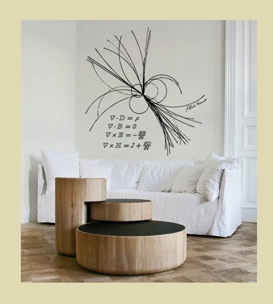 Science Art Physics Maxwell Equations Ray Of Light Vinyl Etsy Science Decor Science Art Vinyl Wall Decals