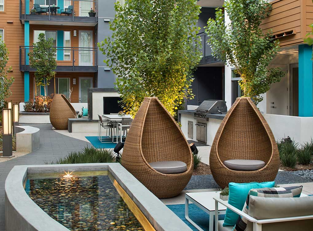 The Outdoor Furniture At Amli Uptown Orange Is Exquisite Looking For Apartments Outdoor Furniture Uptown
