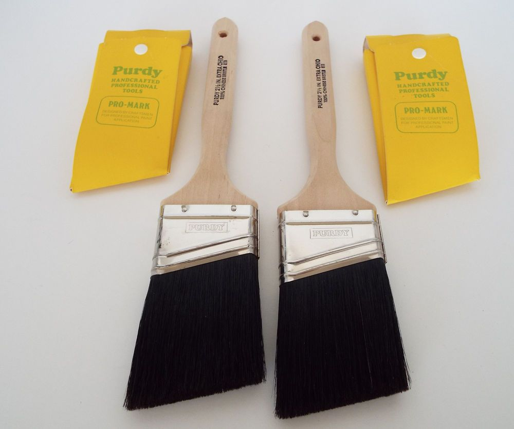 2 Vintage Purdy Extra Ohio Paint Brushes 2 5 100 Chinese Bristle Paintbrush Purdy Vintage Hardware Vintage Scraper Spatula