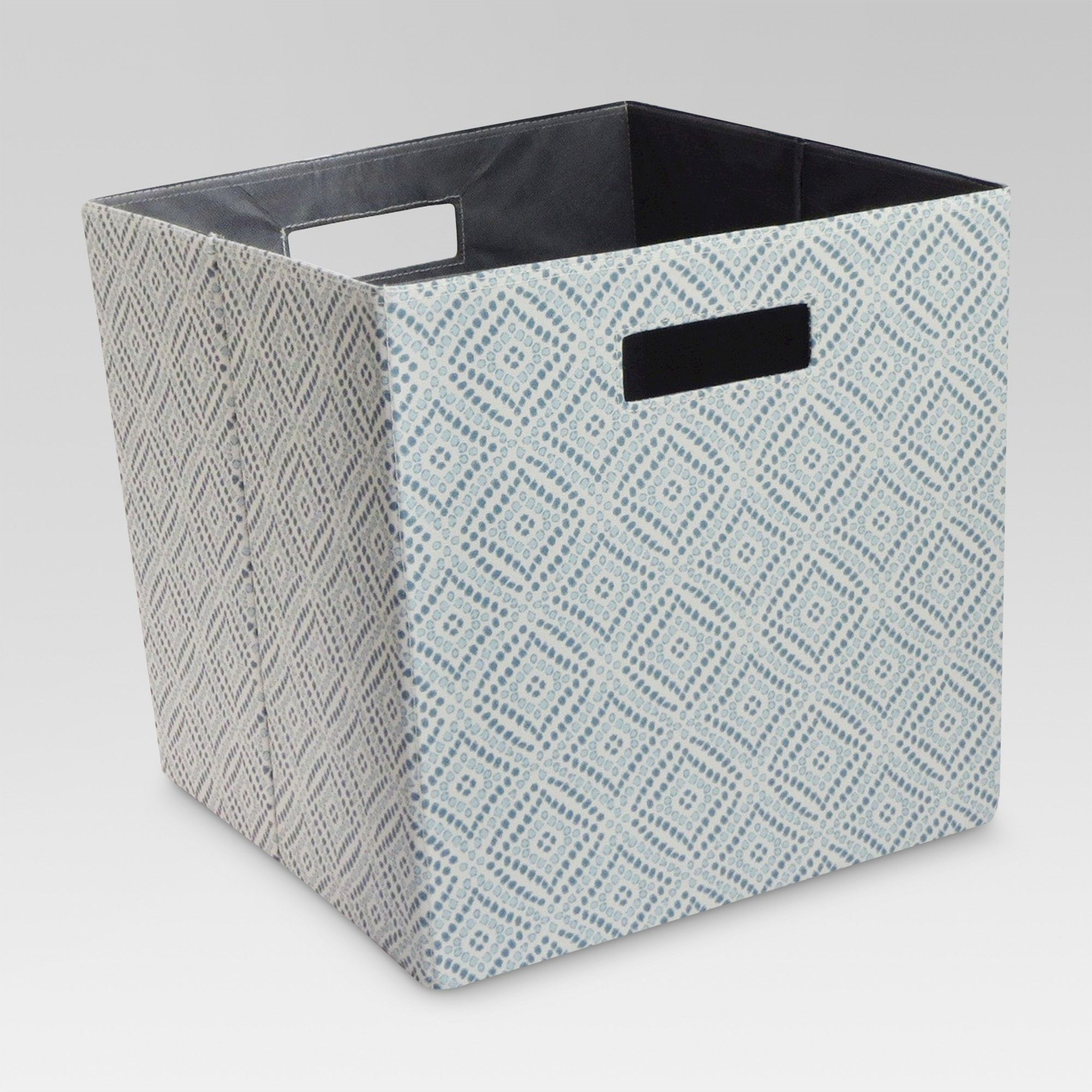 13 Fabric Storage Cube Bin Blue Diamond Threshold Cube Storage