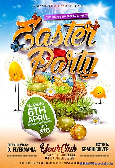 Best Easter Party Flyer Print Templates   Easter Party