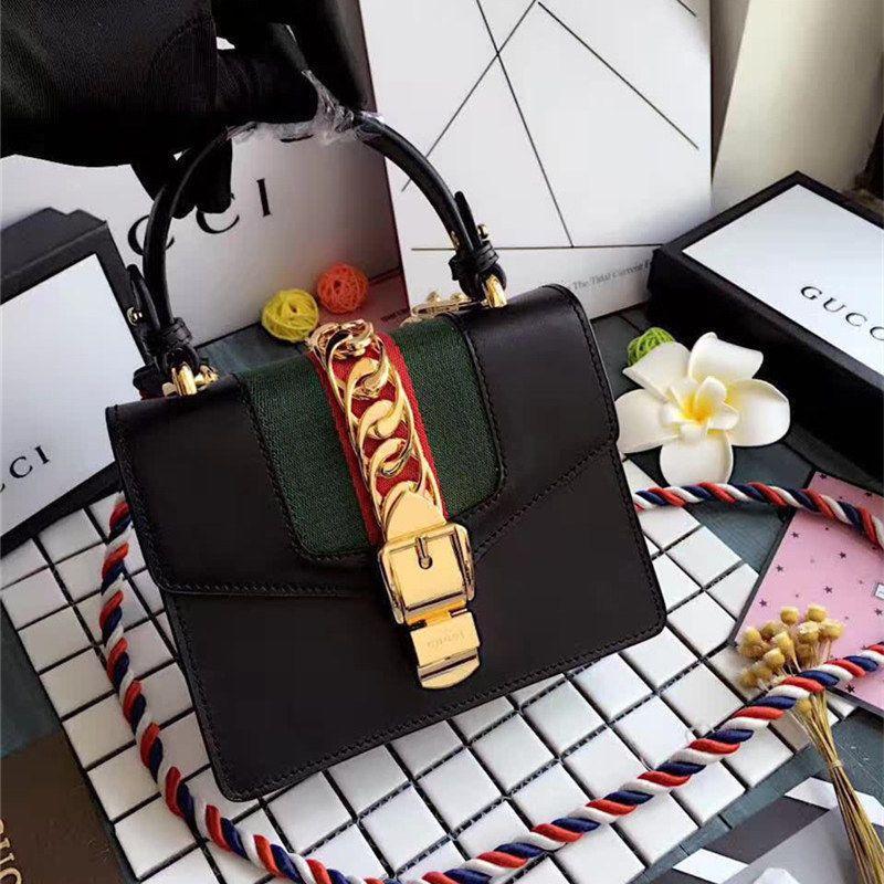 fe8952f06bc0 Authentic Gucci Sylvie Black Real Leather Mini Bag #purses #fashion ...