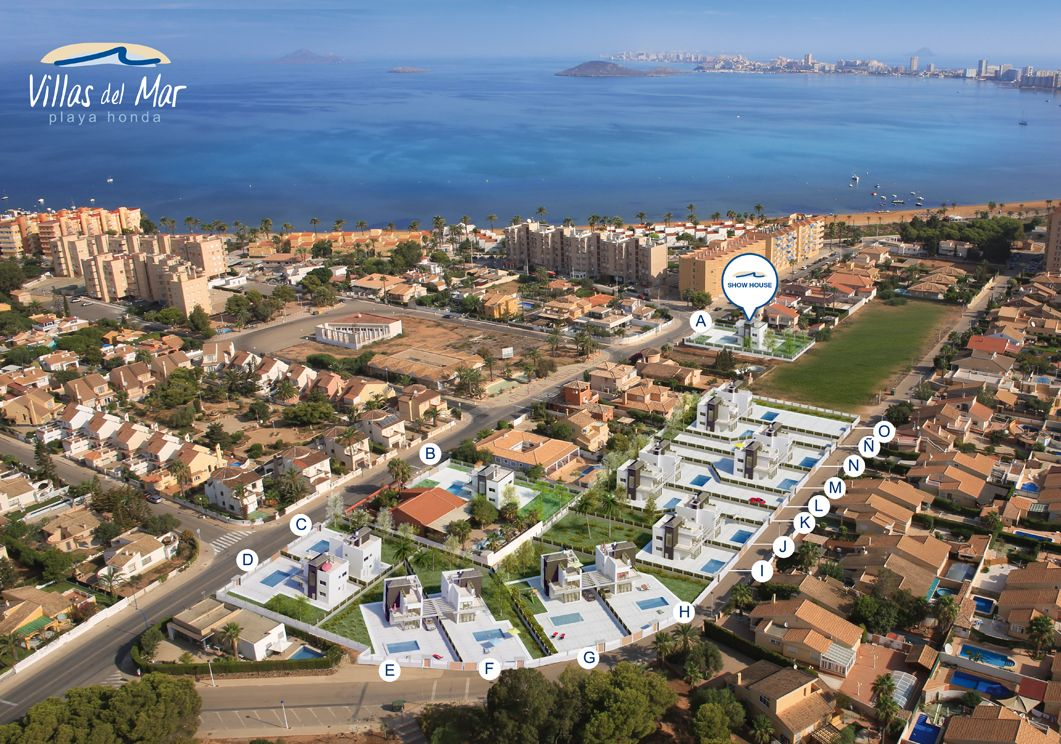 Detached Villas in Playa Honda, Murcia.