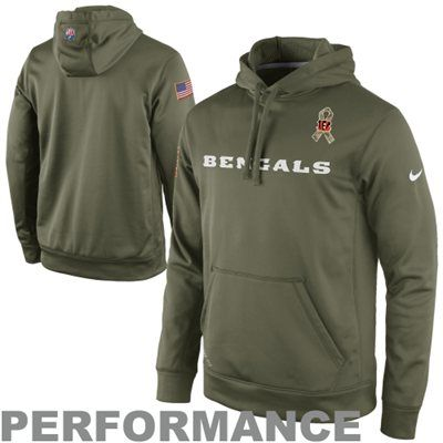low priced 9721d b3a11 Nike Cincinnati Bengals Salute to Service KO Pullover ...