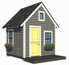 8'x8' Playhouse with Loft plans by A Place Imagined ... on
