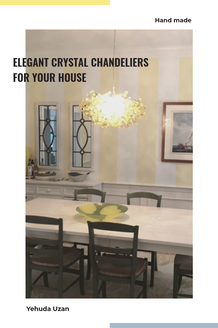 Yellow Lighting chandelier with flowers hanging lamp