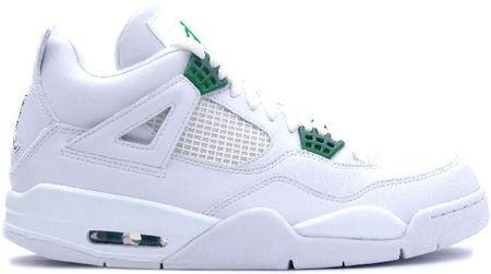 151ba1cf1fd425 Jordan 4 Retro White Chrome Classic Green