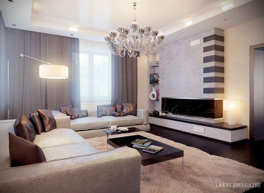 semleges glamúr - nappali szoba lakberendezési ötletek ...