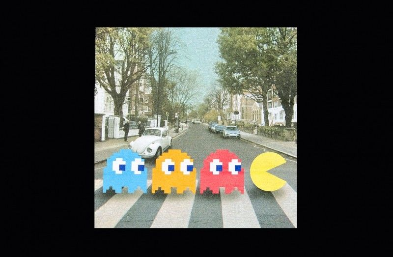 Classic Pacman, Abbey road, Zebra crossing