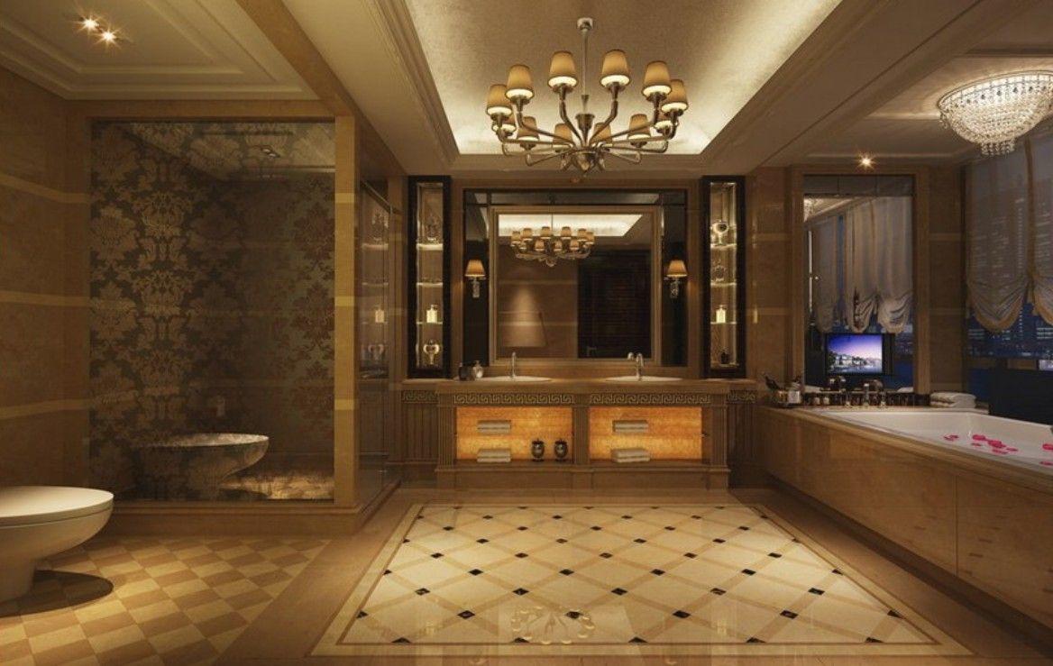 Superbe Expensive Bathroom Interior Design Rendering