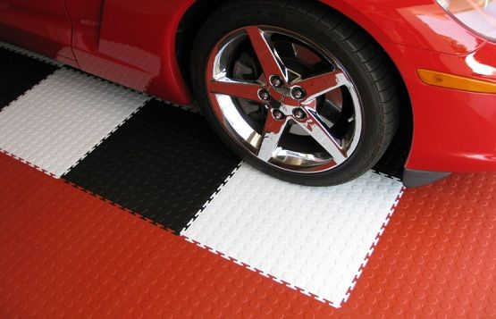 beautiful rubber garage floor mats design ideas with red white black colors
